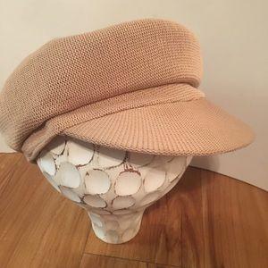 Vintage Camel Knit Newsboy Cap